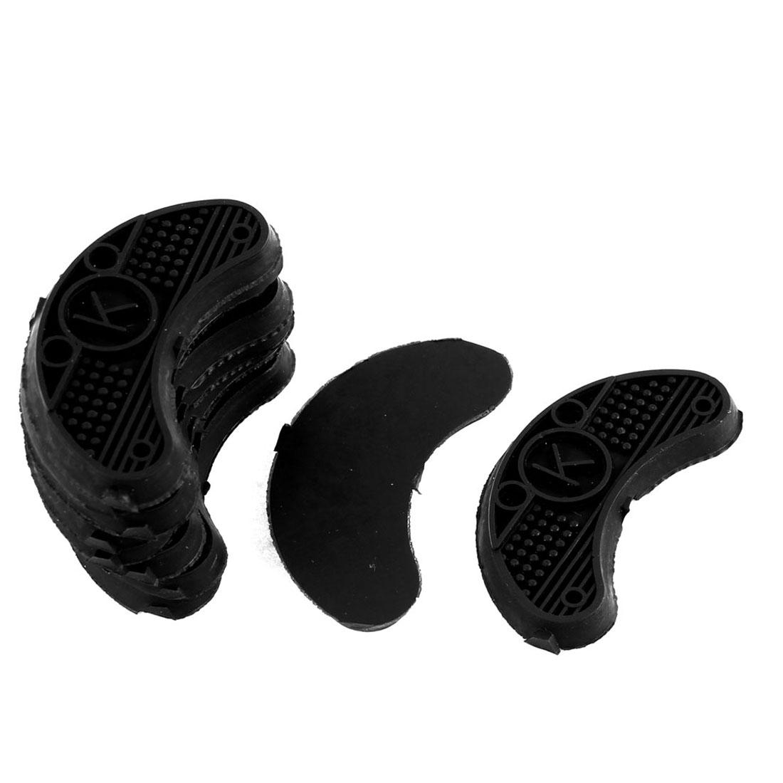Nonslip Rubber Shoes Heels Sole Guard Plates Taps Black 10Pcs