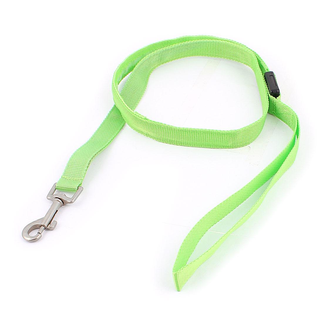 Pet Dog LED Flash Light Swivel Hook Training Walk Nylon Lead Leash Rope Green