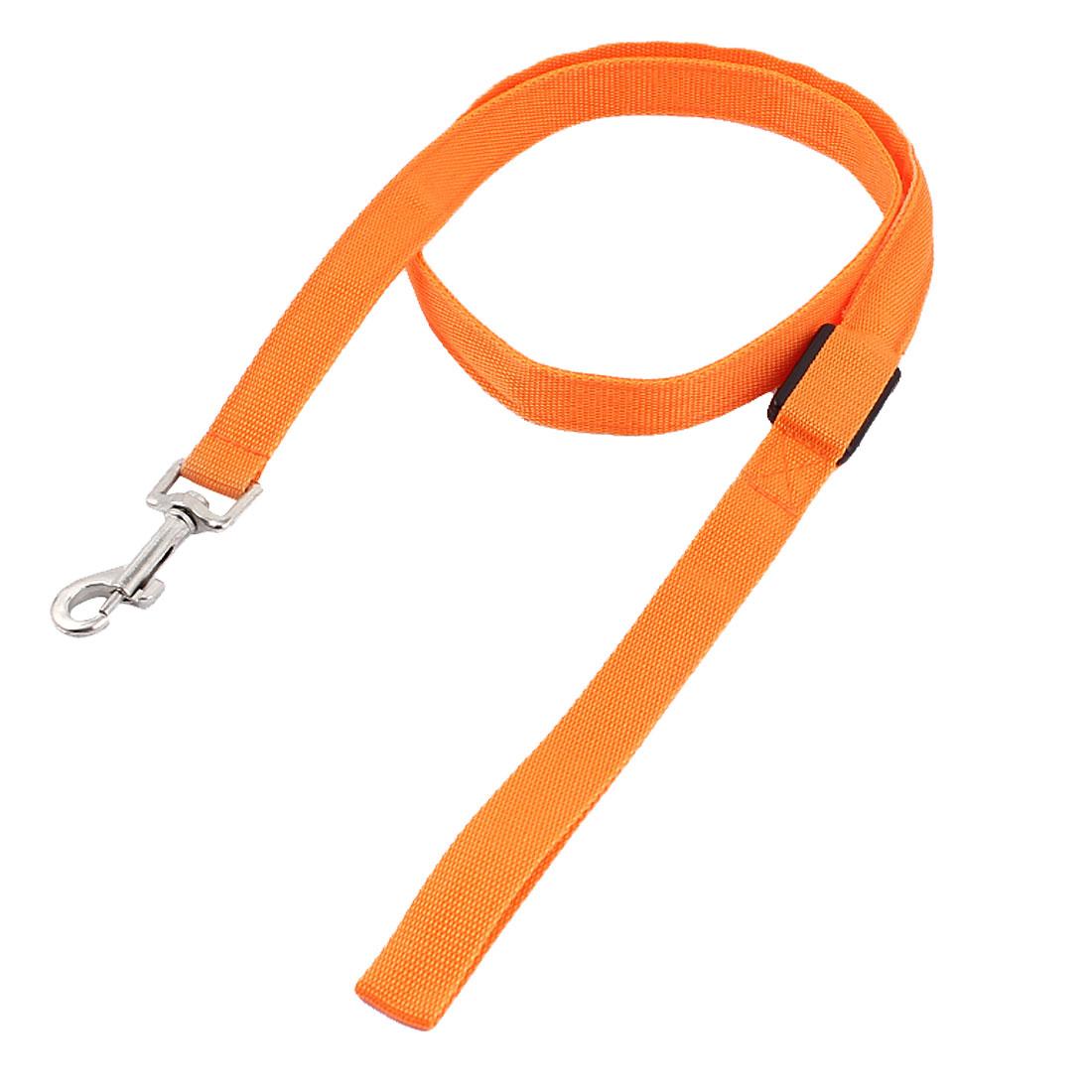 Pet Dog LED Flash Light Swivel Hook Training Walk Nylon Lead Leash Rope Orange