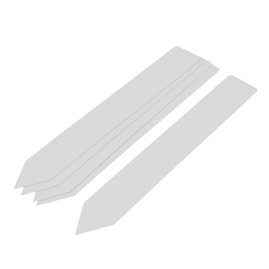 20cmx3cm Plastic Nursery Garden Plant Seeding Tag Label Marker Stick White 5Pcs
