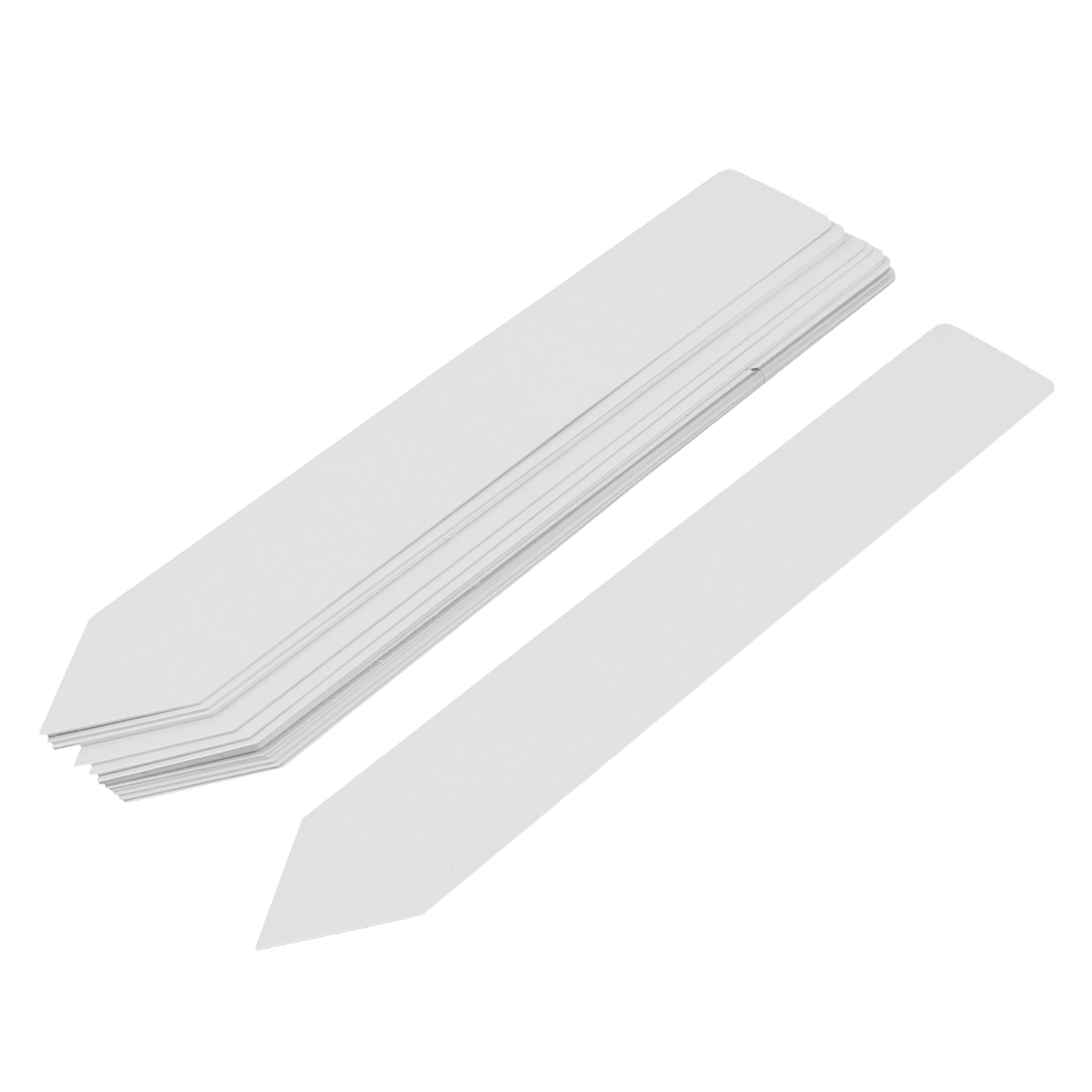 20cmx3cm Plastic Nursery Garden Plant Seed Tag Label Marker Stick White 15Pcs