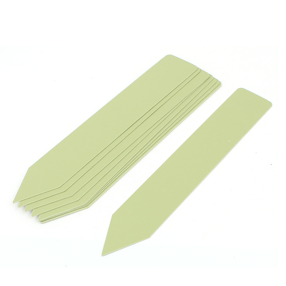 15cmx2.5cm Plastic Nursery Garden Plant Tag Label Marker Stick Light Green 10Pcs