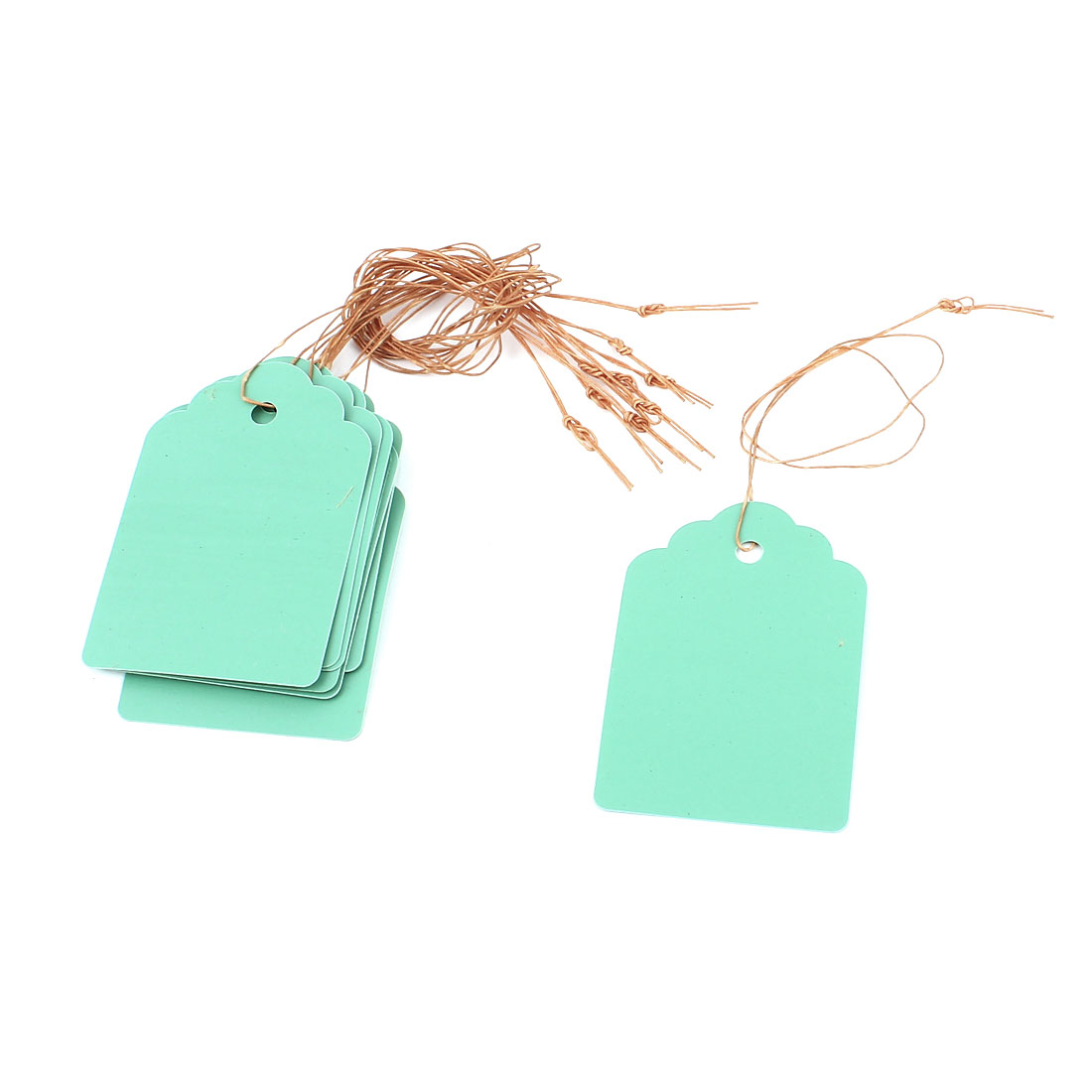 6cmx4cm Plastic Nursery Garden Plant Seed Hanging Tag Label Marker Green 10Pcs