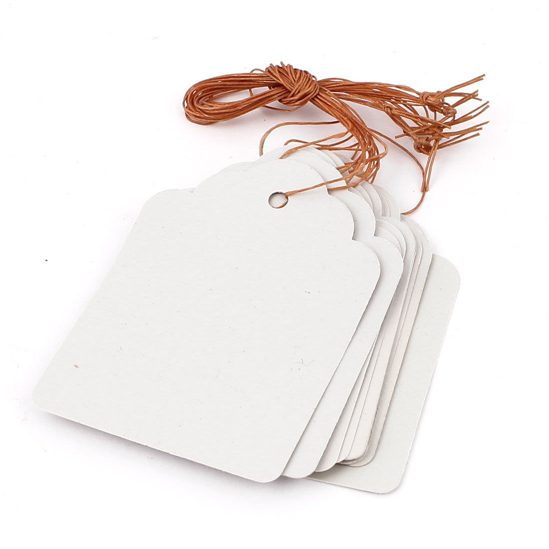 7cmx5cm Plastic Nursery Garden Plant Seed Hanging Tag Label Marker White 10Pcs