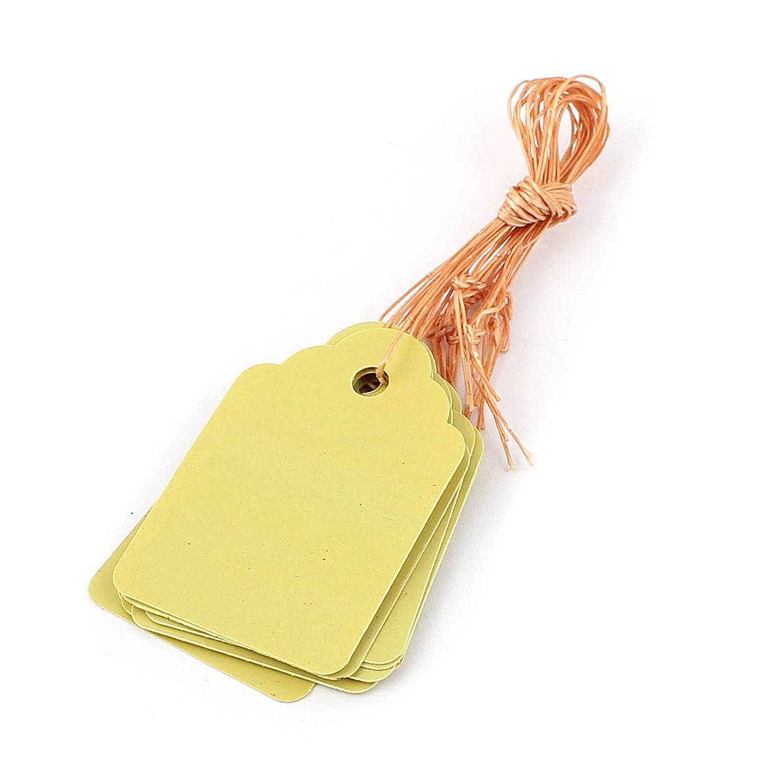 4.5cmx3cm Plastic Nursery Garden Plant Seed Hanging Tag Label Marker Yellow 10Pcs