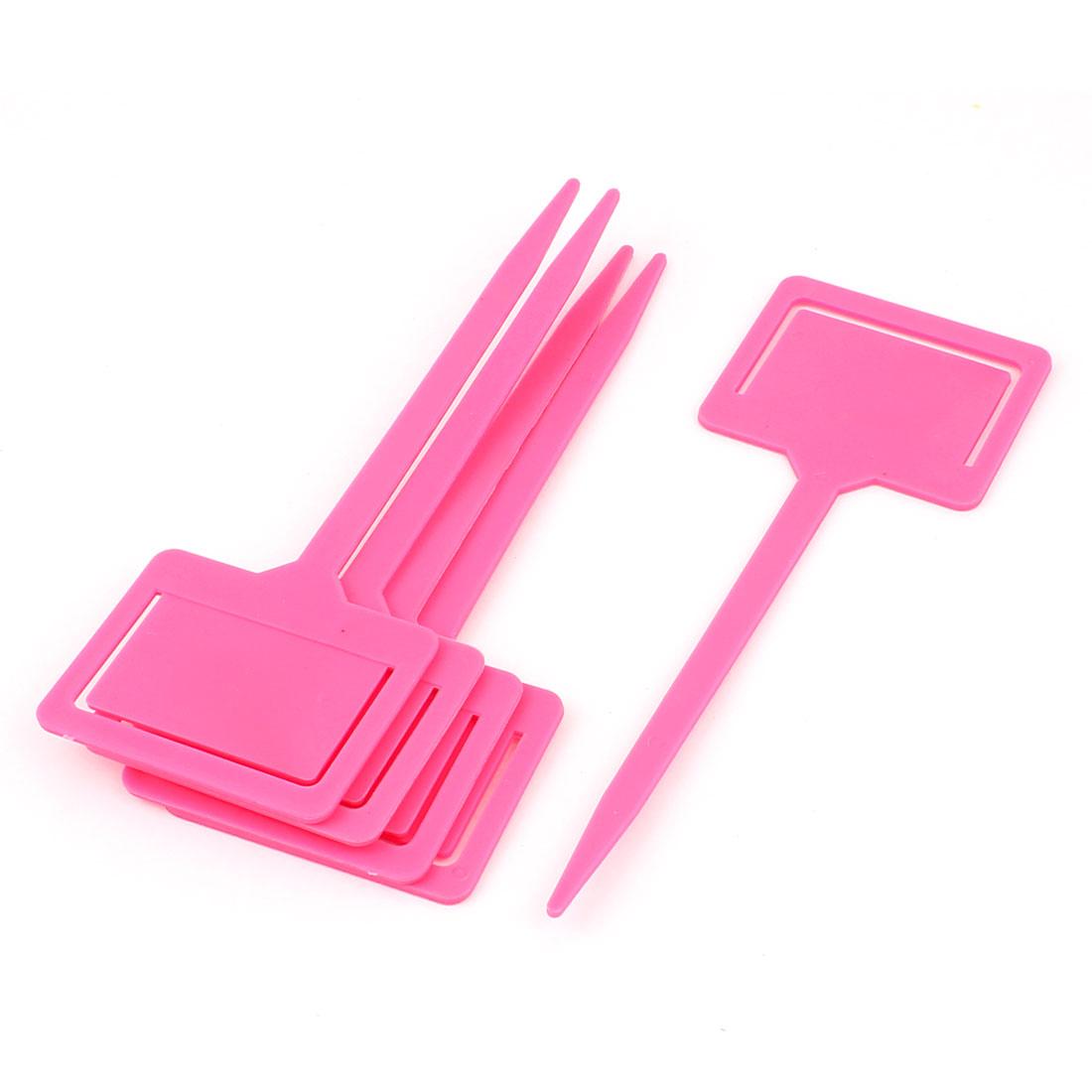 Blackboard Head Nursery Garden Plant Seed Tag Label Marker Stick Pink 5Pcs