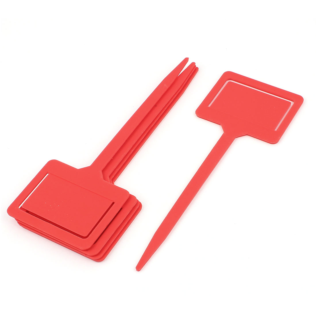 Blackboard Head Nursery Garden Plant Seed Tag Label Marker Stick Red 5Pcs