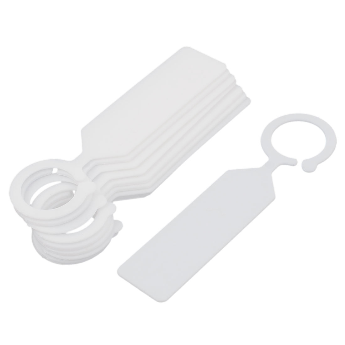 Plastic Hook Nursery Garden Plant Seed Hanging Tag Label Marker White 10Pcs