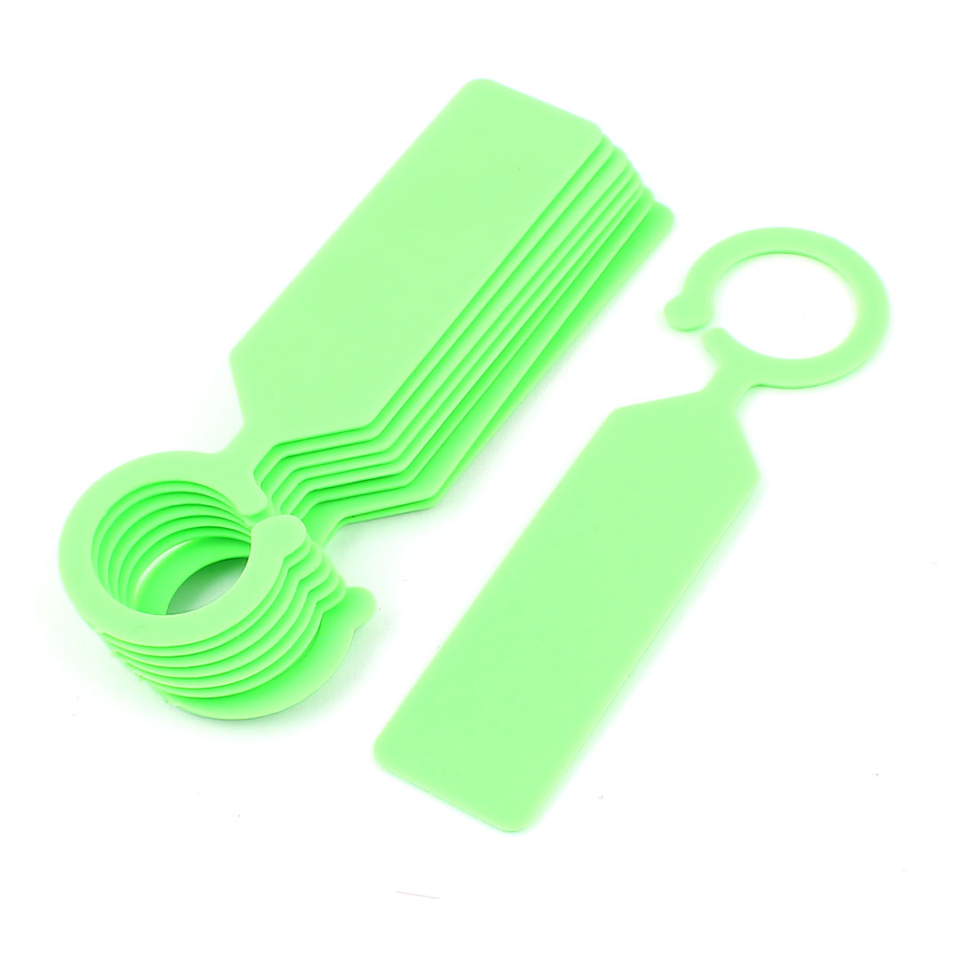 Plastic Hook Nursery Garden Plant Seed Hanging Tag Label Marker Green 10Pcs