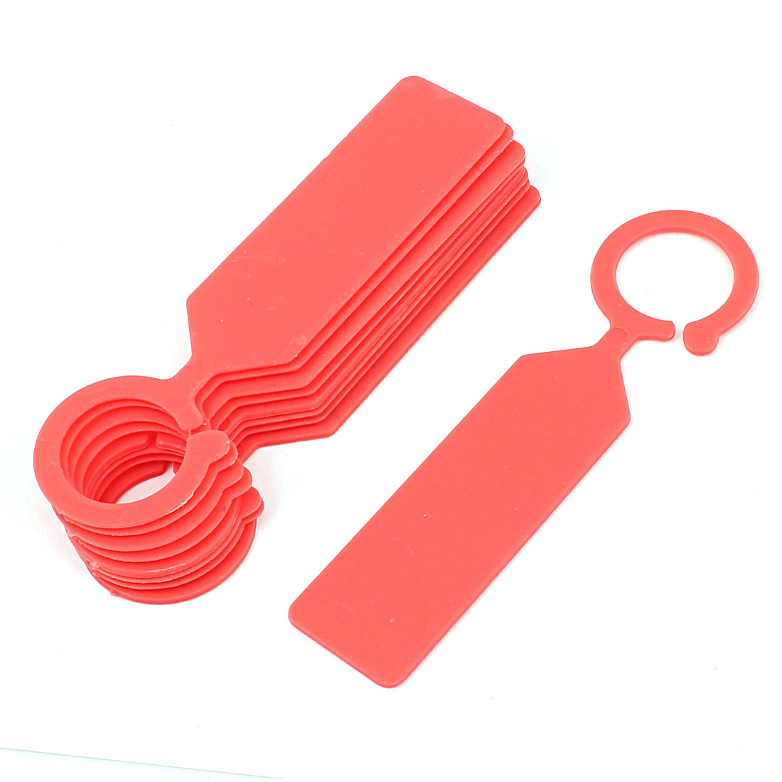 Plastic Hook Nursery Garden Plant Seed Hanging Tag Label Marker Red 10Pcs