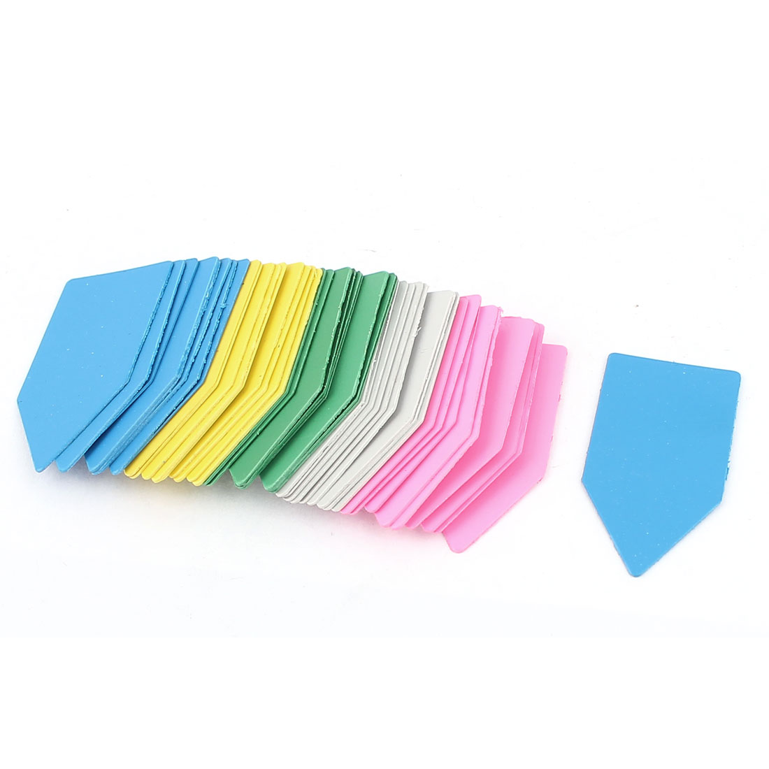 4cmx2cm Plastic Nursery Garden Plant Seed Tag Label Marker Stick Assorted Color 45Pcs