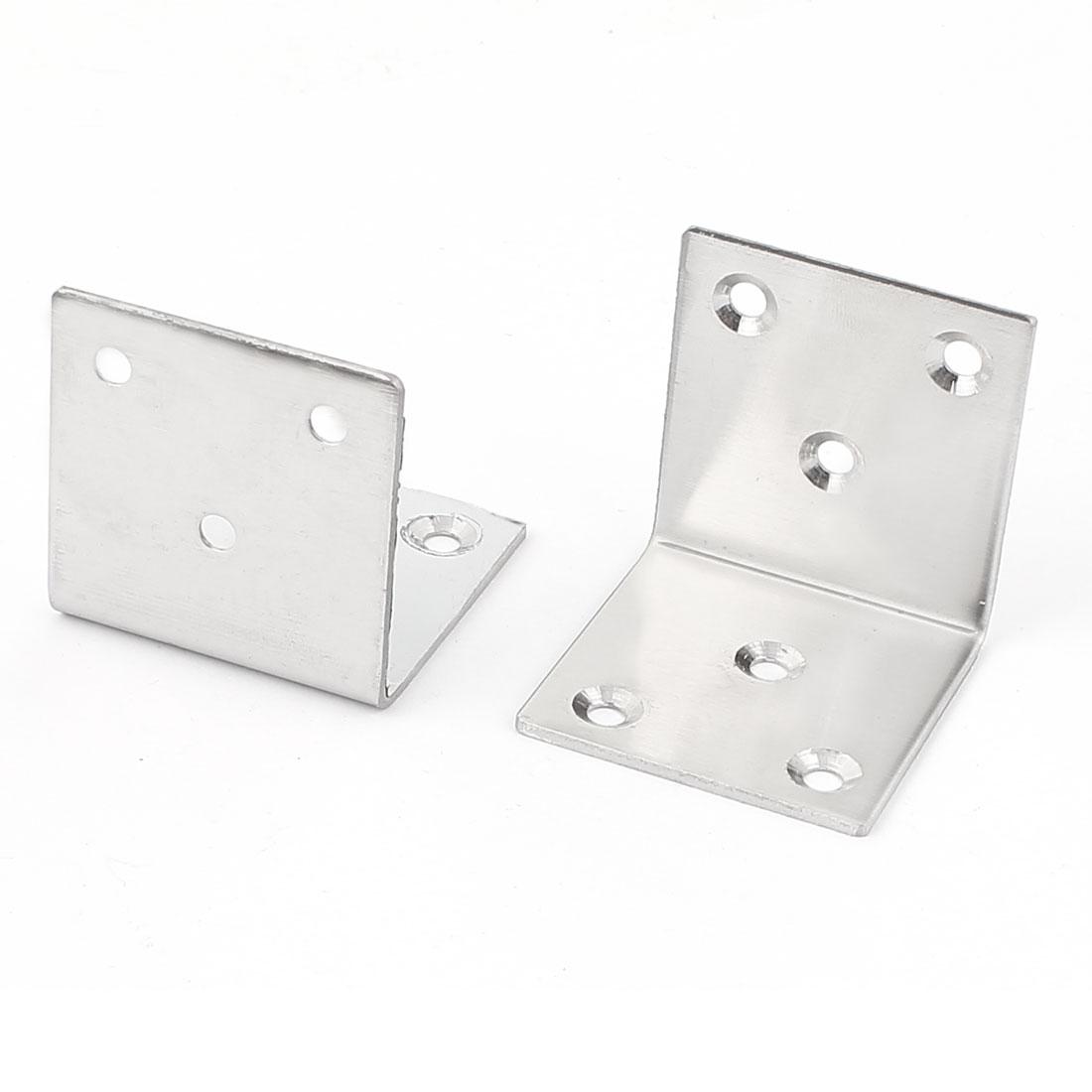 52mmx52mmx49mm Shelf Support Corner Brace Joint Metal Right Angle Bracket 2Pcs