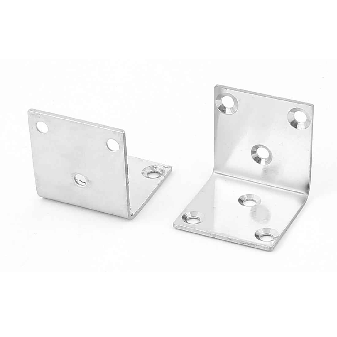 42mmx42mmx41mm Shelf Support Corner Brace Joint Metal Right Angle Bracket 2Pcs
