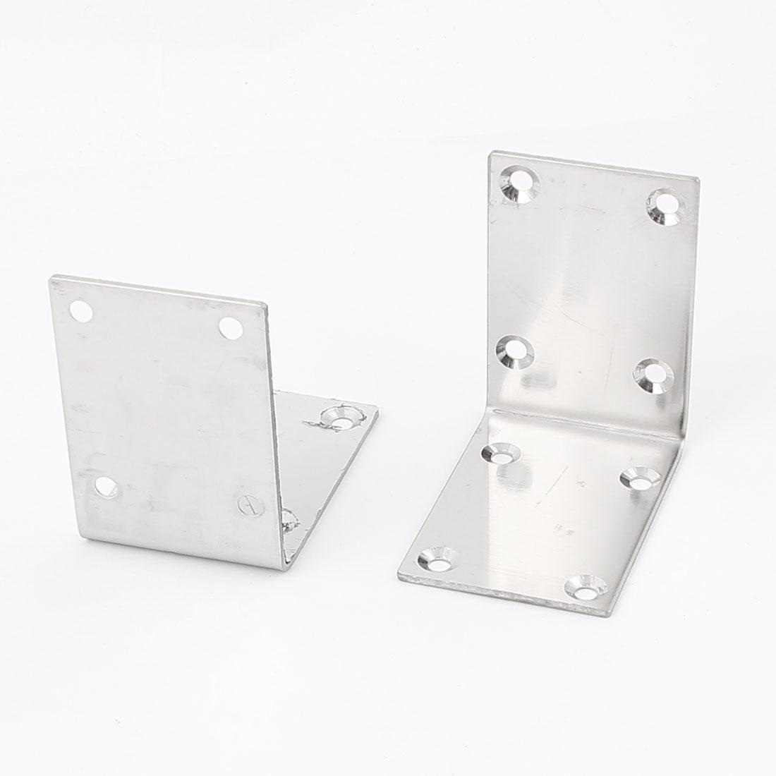 70mmx70mmx49mm Shelf Support Corner Brace Joint Metal Right Angle Bracket 2Pcs