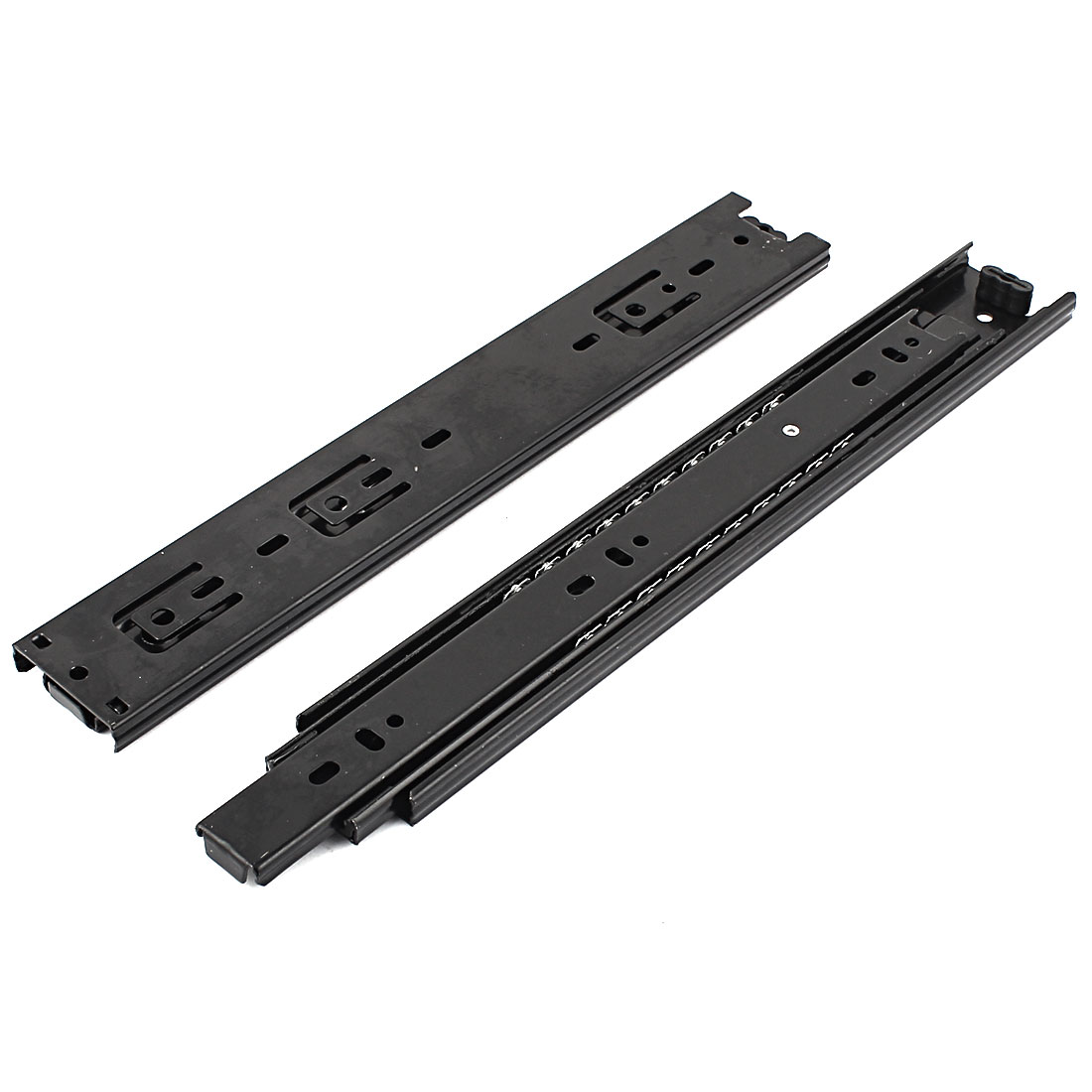 "12"" Length Ball Bearing Full Extension Damper Drawer Slide Rail Black Pair"