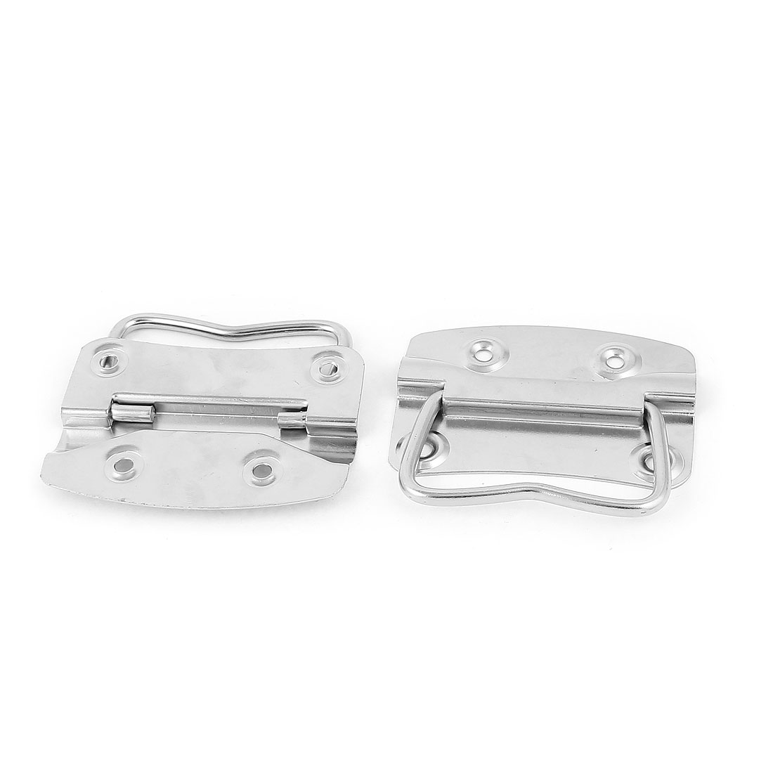 Trunk Drawer Cupboard Toolbox Chest Metal Pull Handle Silver Tone Pair