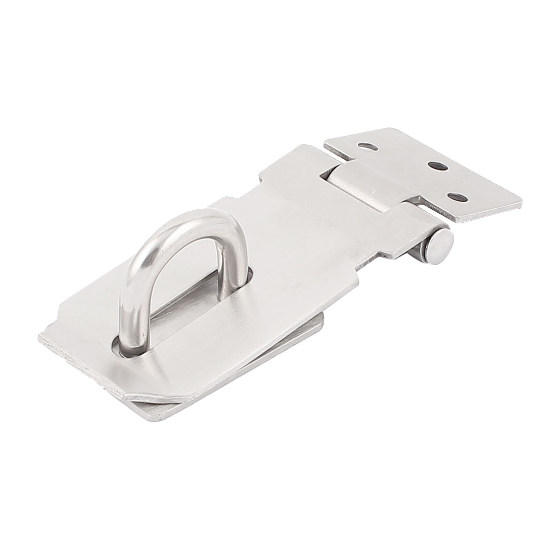 Cabinet Cupboard Gate Door Latch Lock Padlock Metal Hasp Staple Silver Tone