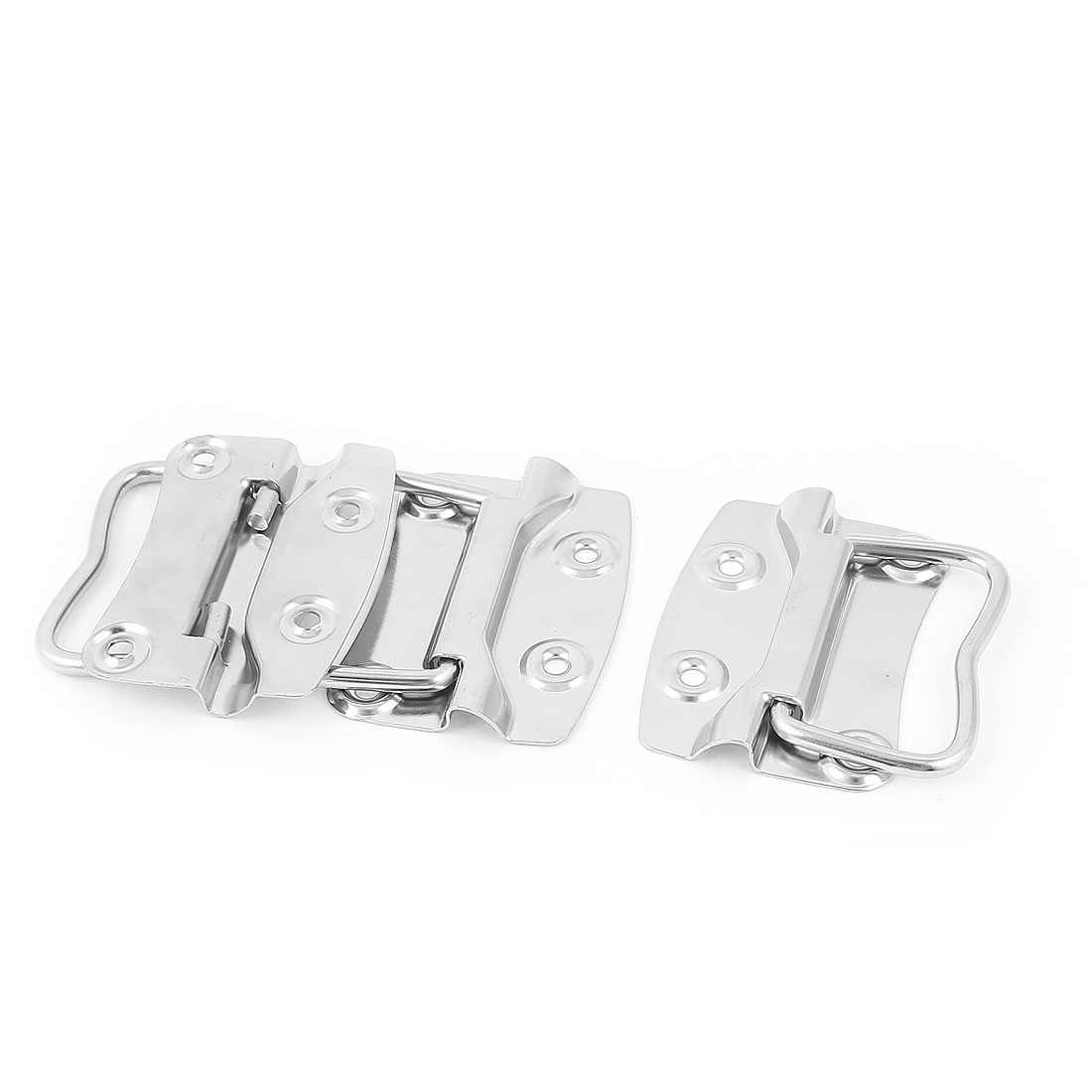 Trunk Drawer Cupboard Toolbox Chest Metal Pull Handle Silver Tone 3Pcs