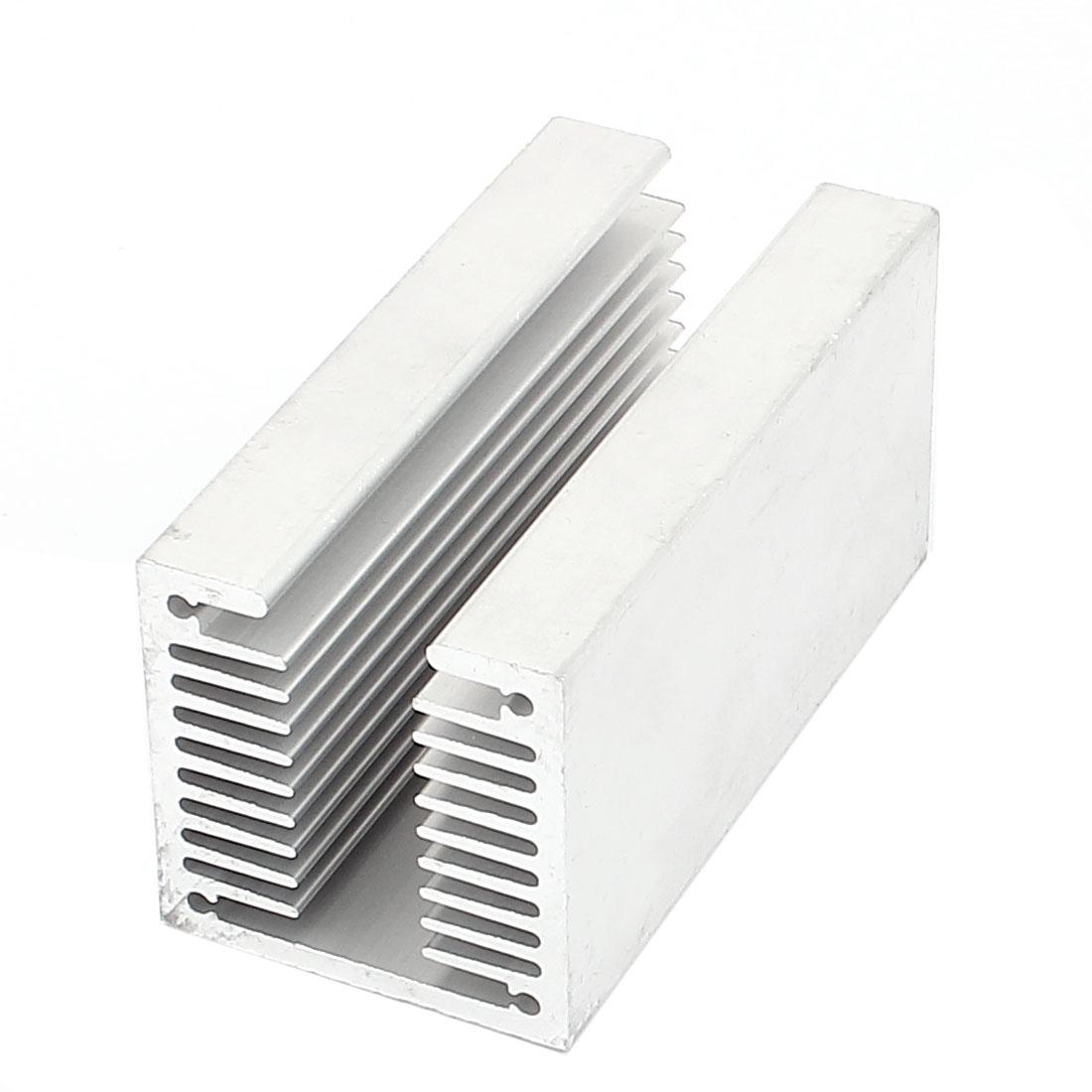 Silver Tone Aluminium U Slotted Radiactor Heatsink Heat Sink 80mm x 40mm x 40mm