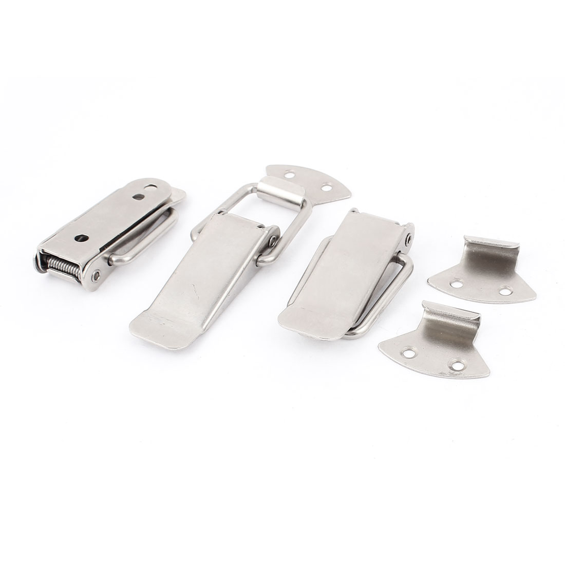 3 Pcs Stainless Steel Suitcase Safety Lock Draw Toggle Latch