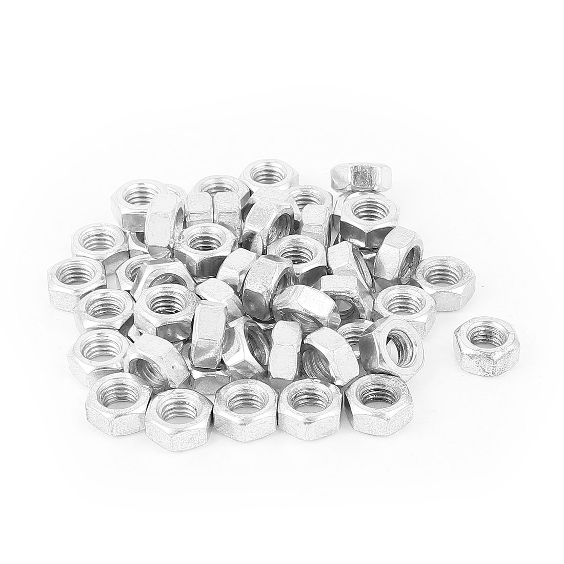 52 Pcs Metric M8 Hex Nuts Metal Fasteners for Screw Bolt