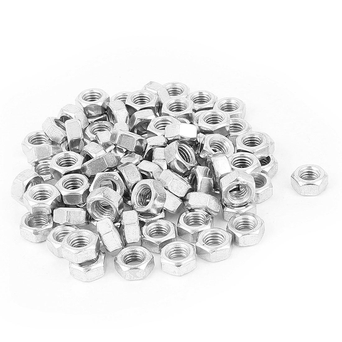 86 Pcs Metric M8 Hex Nuts Metal Fasteners for Screw Bolt