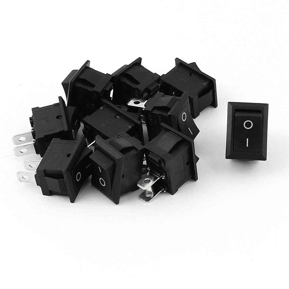 10 Pcs 2 Position On-Off SPST Boat Rocker Switch AC 250V 2A/4A/6A/8A