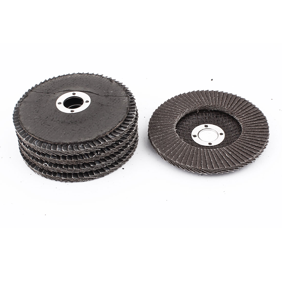 5 Pcs Single Side 16mm Inner Dia 80# Grit Abrasive Flap Sanding Disc Buffing Wheel