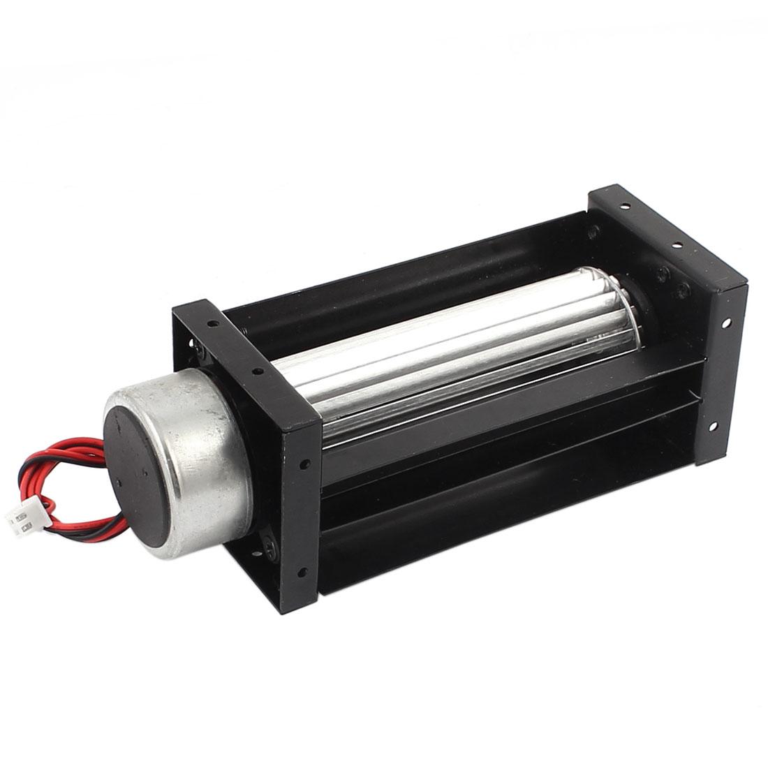 DC 24V 0.15A 3200RPM Cross Flow Cooling Fan Heat Exchanger Amplifier Cool Turbo