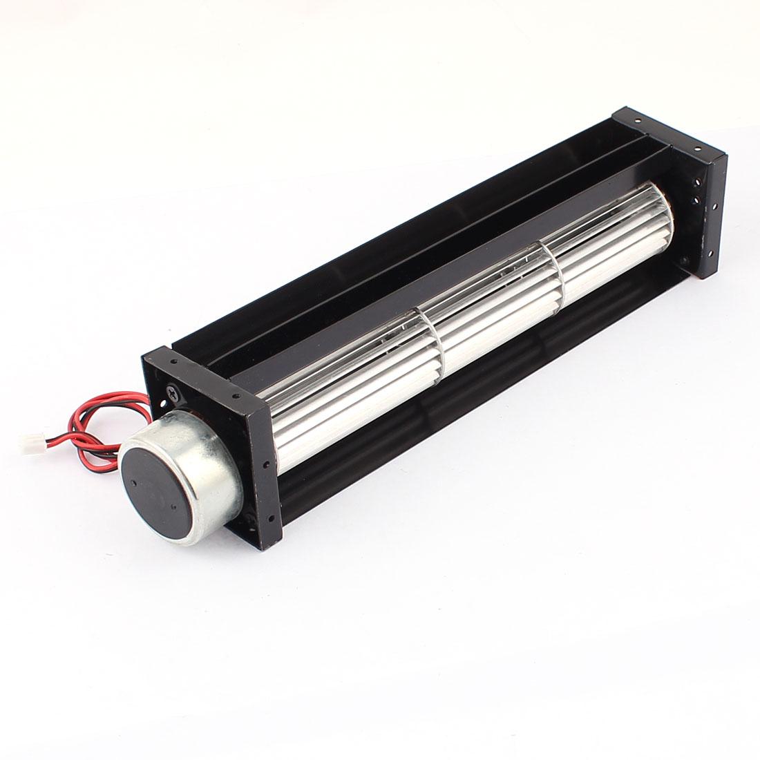 DC 24V 0.18A Cross Flow Cooling Fan Heat Exchanger Amplifier Cool Turbo