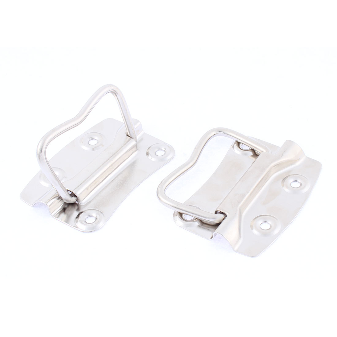 Closet Kitchen Flush Mounted Type Pull Handle 5mm Pole Dia 2Pcs