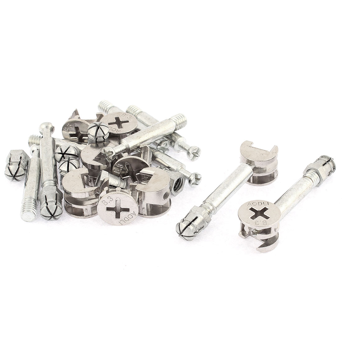 Furniture Cabinet Fixing Screw Locking Connecting Cam Bolt Nut Fitting 9Sets