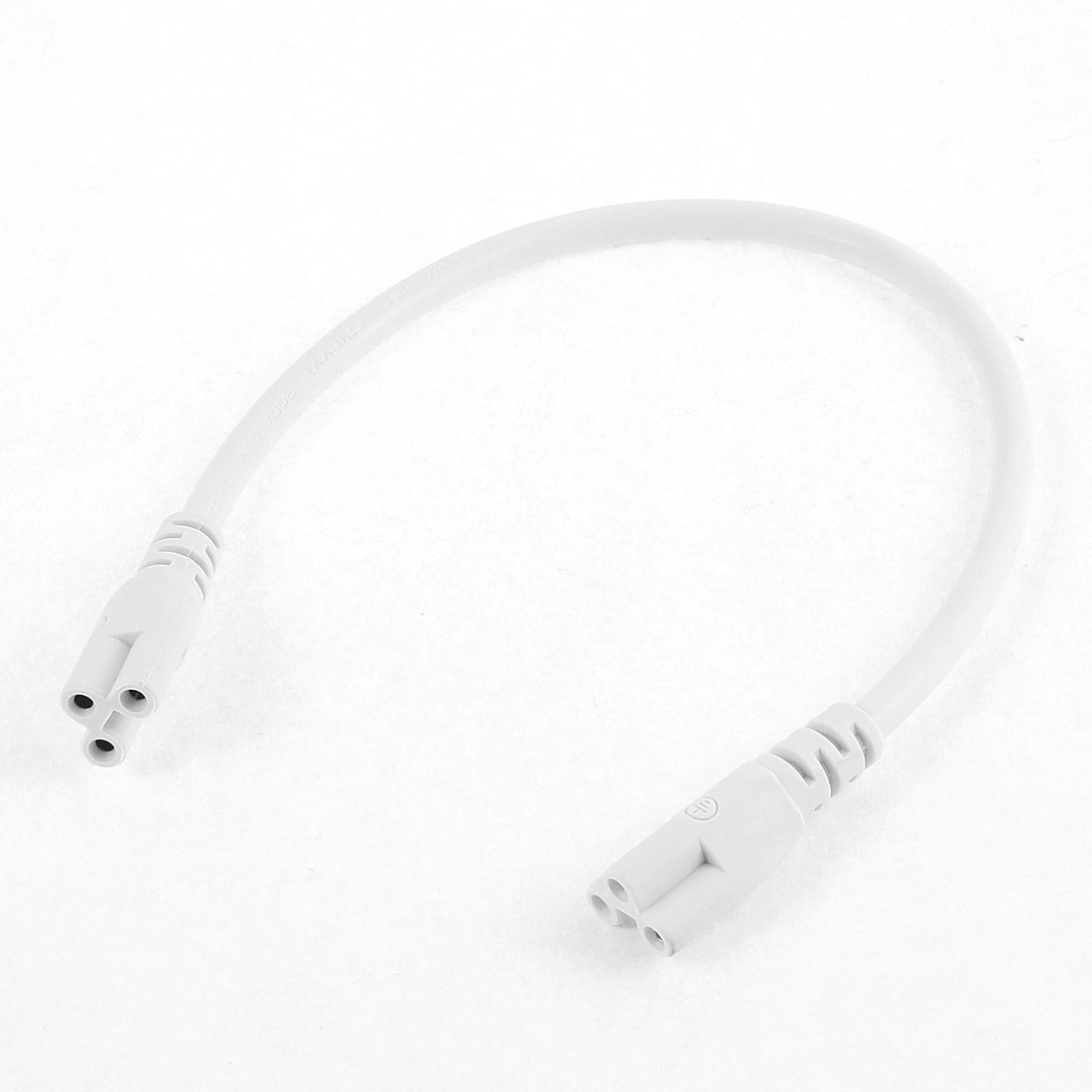 AC 250V 2.5A T5 Fluorescent Led Light Power Connector Cable Plug Wire White 30cm
