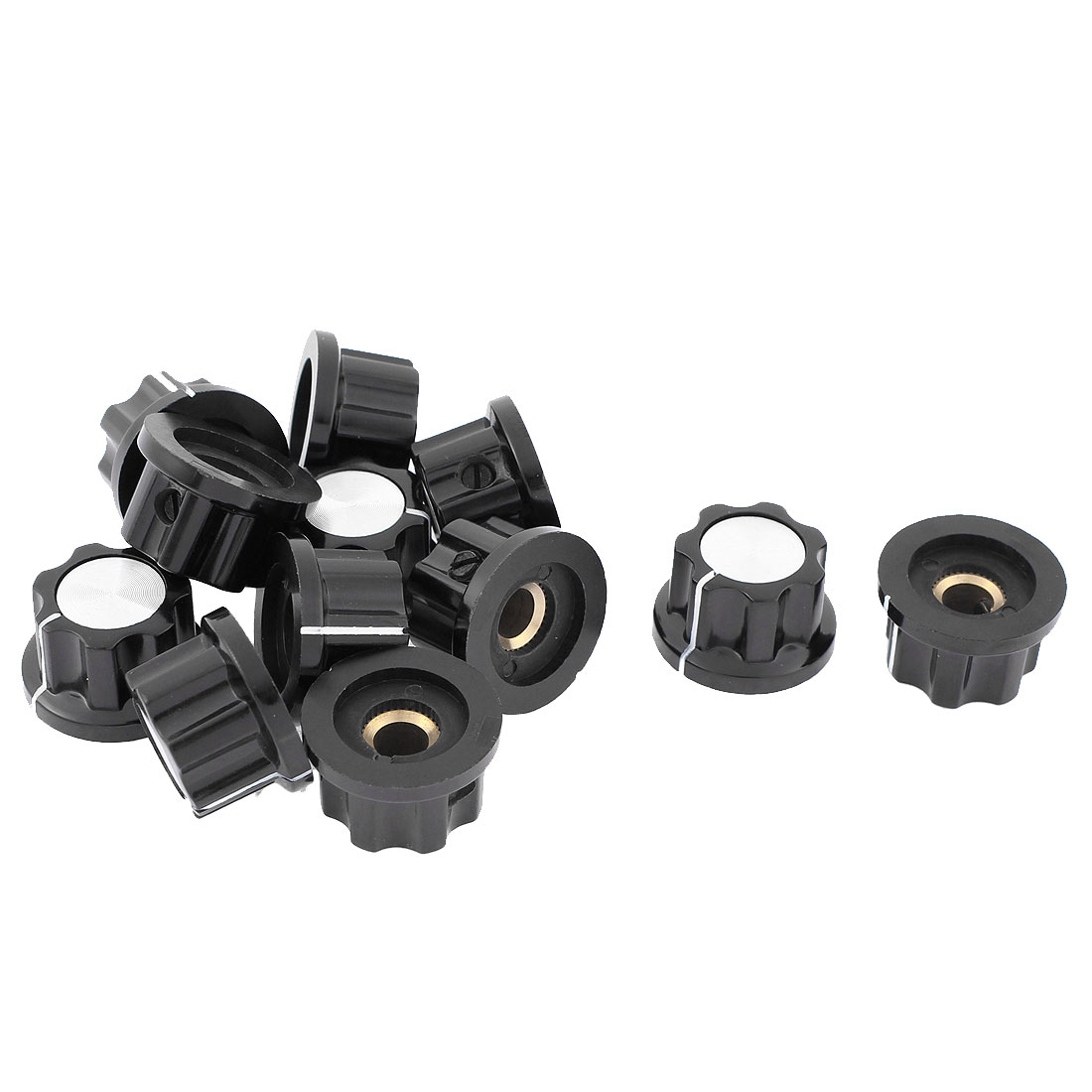 Plastic Shell Potentiometer Knob Caps 22.5mm x 13.5mm 12Pcs