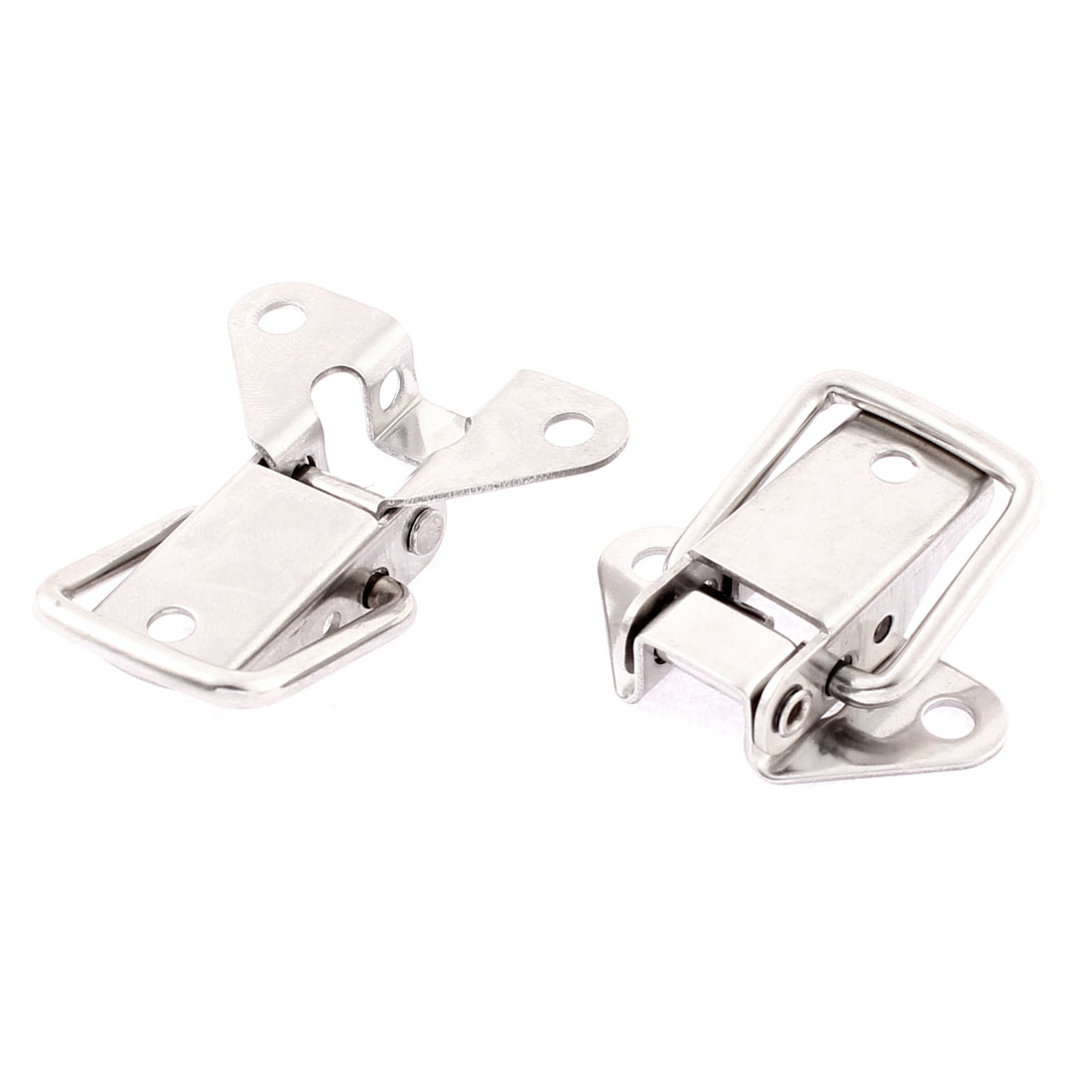 Suitcase Case Box Locking Toggle Latch Silver Tone 2Pcs