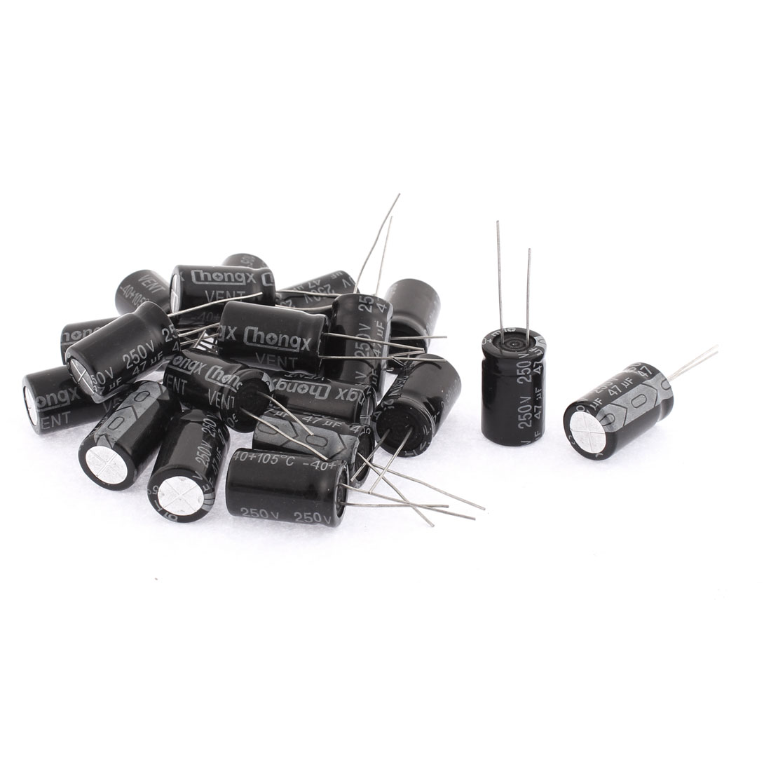 20PCS 47uF 250V Radial Leads Aluminum Electrolytic Capacitors 13 x 21mm