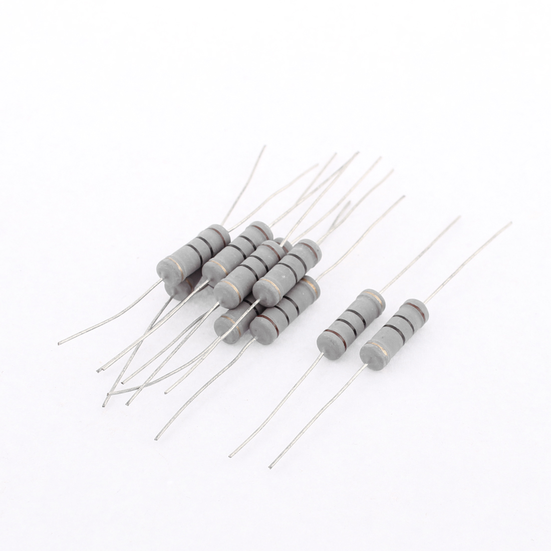 11Pcs 3W 5% Tolerance 10 Ohm Axial Lead Carbon Film Resistors