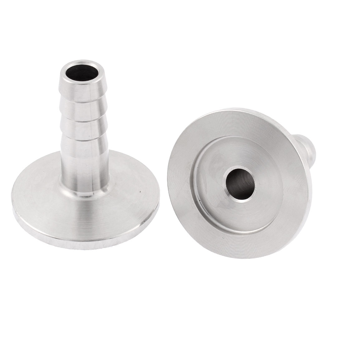 Stainless Steel 304 KF25 Flange Hose Barb Adapter 2Pcs