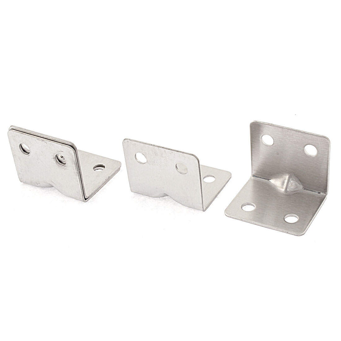 Stainless Steel Shelf Wall Corner Brace Right Angle Bracket 31mm x 31mm x 37mm 4Pcs