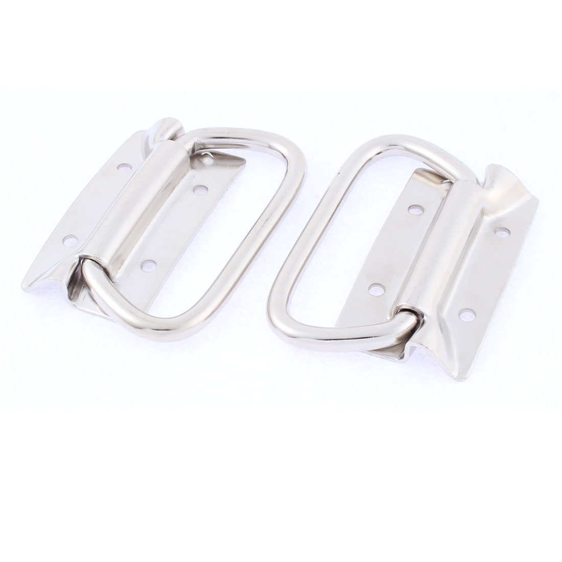 Dresser Cupboard Door Pull Handle Silver Tone 2Pcs