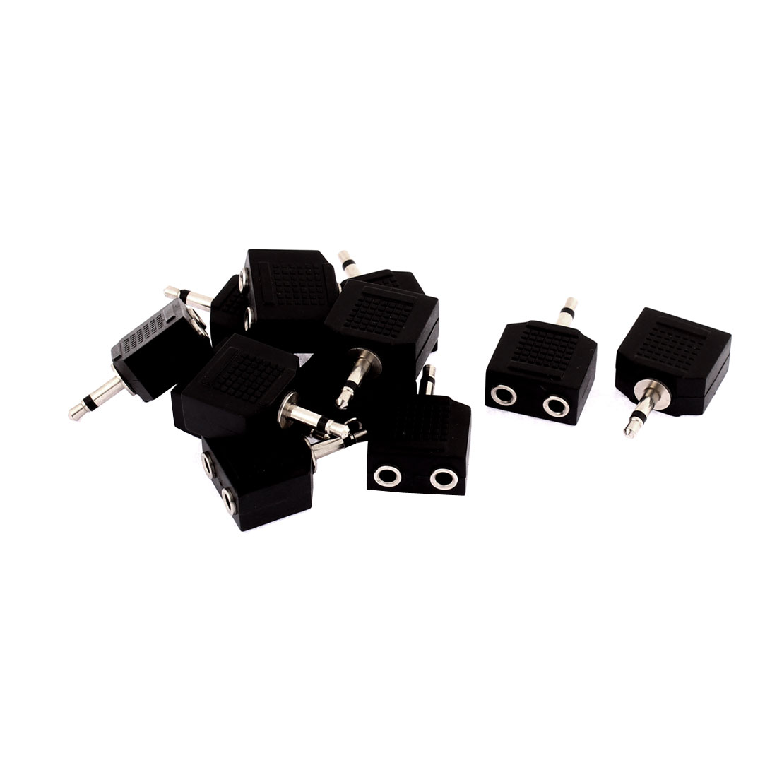 3.5mm Mono Audio Male Connector to Dual 3.5mm Jack Splitters 12Pcs