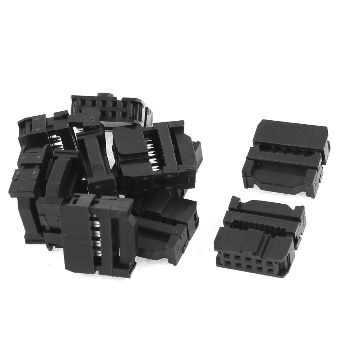 11Pcs 2.54mm Pitch 10 Pin IDC FC Header Socket Connector