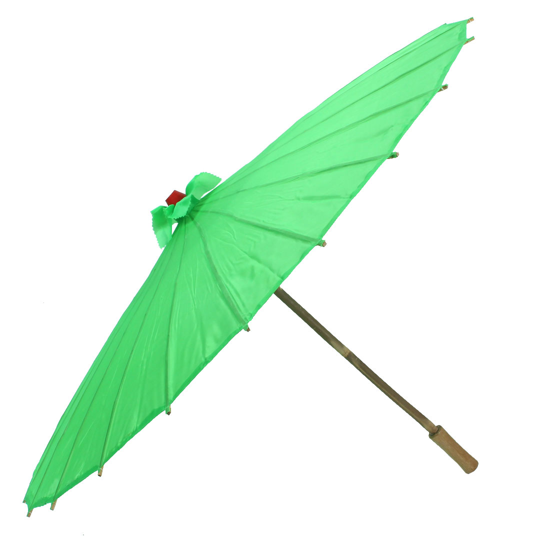 Bamboo Japanese Chinese Style Traditional Manually Dancing Umbrella Parasol Green 78cm Dia