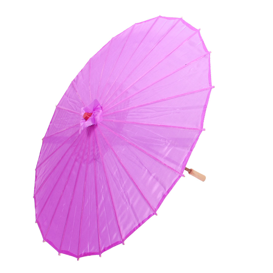 Bamboo Japanese Chinese Style Traditional Manually Dancing Umbrella Parasol Purple 78cm Dia