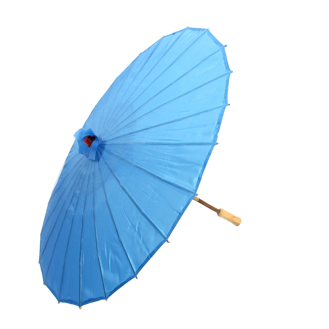 Bamboo Japanese Chinese Style Traditional Manually Dancing Umbrella Parasol Dark Blue 78cm Dia