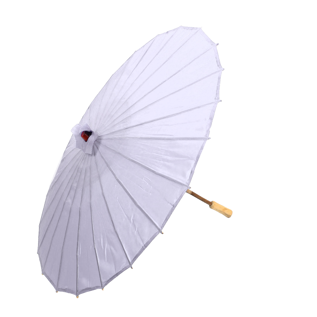 Bamboo Japanese Chinese Style Traditional Manually Dancing Umbrella Parasol Light Purple 78cm Dia