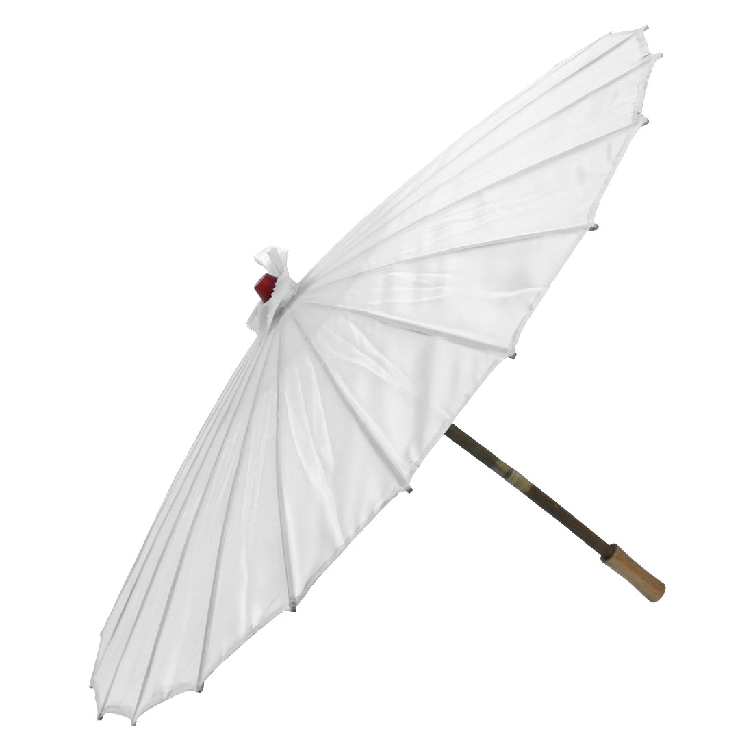 Bamboo Japanese Chinese Style Traditional Manually Dancing Umbrella Parasol White 78cm Dia