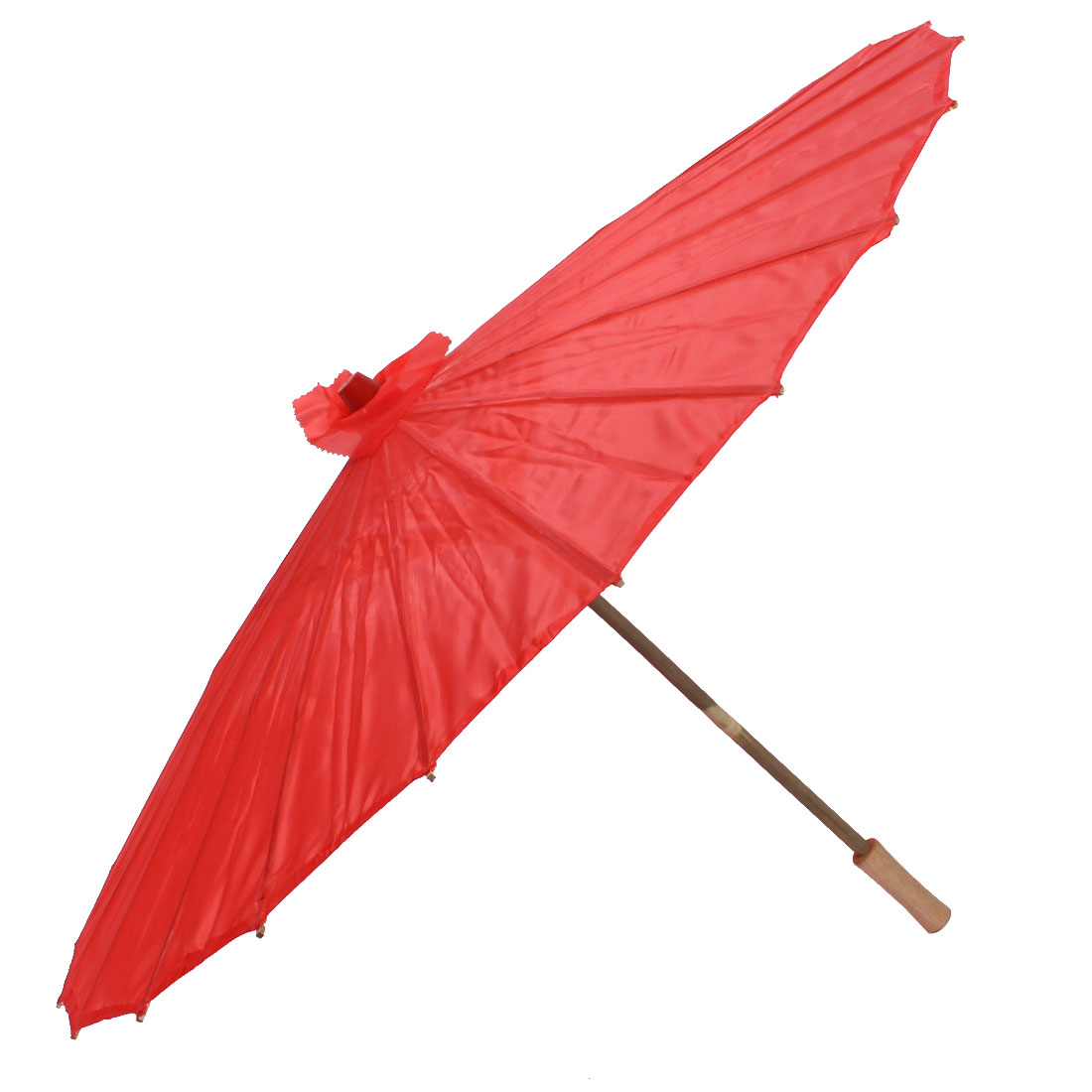 Bamboo Chinese Style Traditional Manually Dancing Umbrella Parasol 78cm Dia Red
