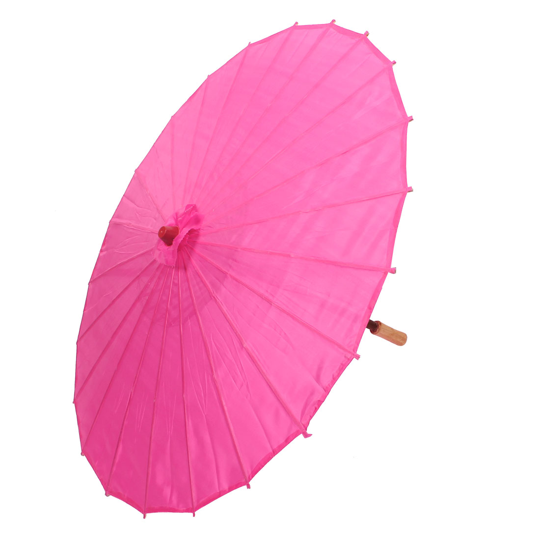 Bamboo Japanese Chinese Style Traditional Manually Dancing Umbrella Parasol Fuchsia 78cm Dia