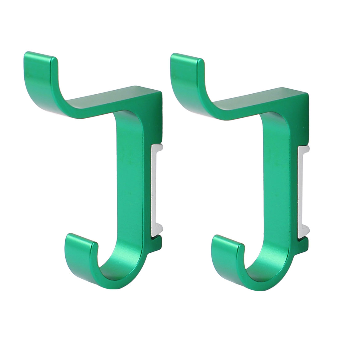 Bathroom Clothes Bath Towel Wall Mount Aluminum Hanging Hook Hanger 2 Pcs Green